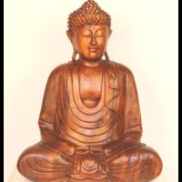 Buddha szobor fa 50 cm
