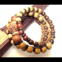 Natúr fa karkötő spirituális áldáskövek