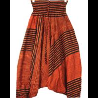Aladdin nadrág narancs-fekete csíkos