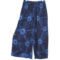 Bőszárú nadrág/fekete kék batikolt