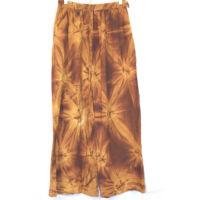 Bőszárú nadrág /barna batikolt