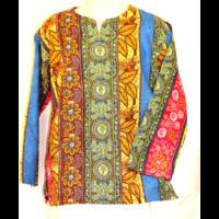 Etnikai ing mintás kékes