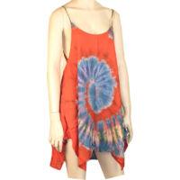 Batikolt ruhácska piros alapon pántos