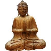 Buddha szobor fa 32 cm
