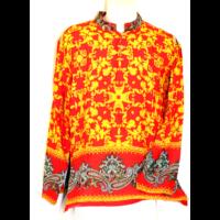 Etnikai ing nagy mintás piros