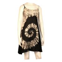 Batikolt ruhácska hátul gumis fekete alapon
