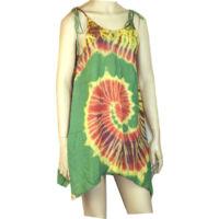 Batikolt ruhácska zöld alapon pántos