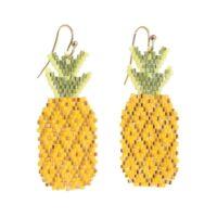Gyöngyös fülbevaló ananász/fehér