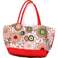 Strand/bevásárló nagy táska piros