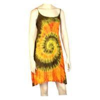 Batikolt ruhácska hátul gumis narancs alapon