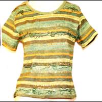 Hímzett póló zöld L