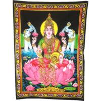 Laksmi istennő a jószerencséért falitextil