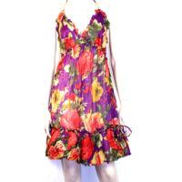 Rózsás ruha lilás