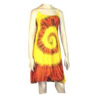 Batikolt ruhácska hátul gumis citromsárga alapon