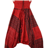 Aladdin nadrág piros-fekete csíkos