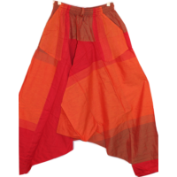 Aladdin nadrág narancs-bordó