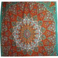 Mandala ágytakaró zöld