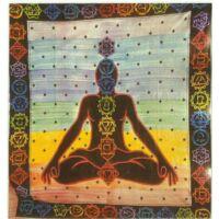 Csakra Buddha ágytakaró