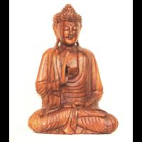 Buddha szobor fa 42 cm