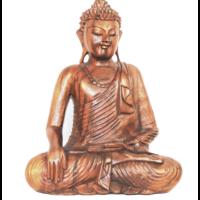 Buddha szobor fa 41 cm