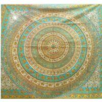 Mandala ágytakaró türkiz zöld