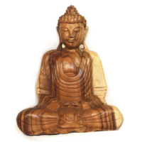Buddha szobor fa 33 cm