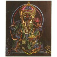 Ganesha színes feketén