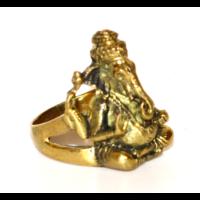 Forma gyűrű réz Ganesha