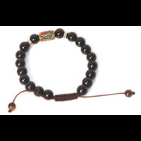Ónix karkötő tibeti gyöngy