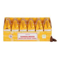 Visszaáramló kúp füstölő - Sandalwood/Szantál