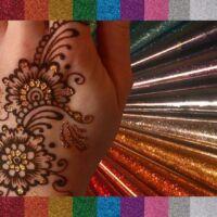 Gyors  henna csillám több színben