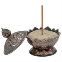 Lótusz füstölő égető bronz szín