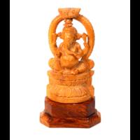 Ganesha szobor cédrus
