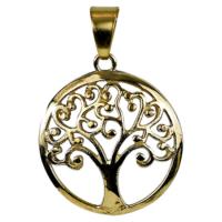 Életfa medál arany szín