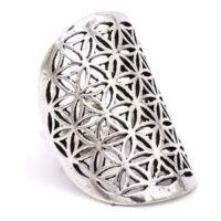 Életvirága gyűrű ezüst szín