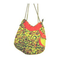 Zöld-piros dizájn táska