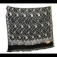 Nepáli gyapjú sál fekete- fehér