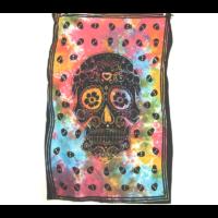 Textilkép koponya 1