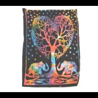 Textilkép elefánt fa alatt