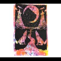 Textilkép hold-farkasok