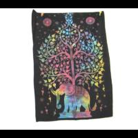 Textilkép elefánt életfa