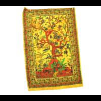 Textilkép életfa sárga