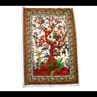 Textilkép életfa fehér