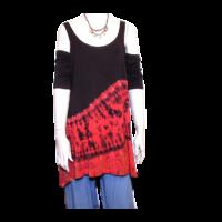 Batik felső fekete-piros 2