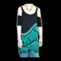 Batik felső fekete-türkiz