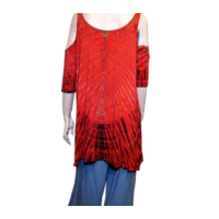Batik felső fekete-piros 4