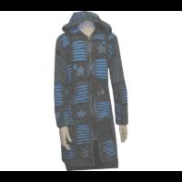 Kabát őszre kapucnival kék