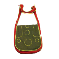 Piros zöld táska