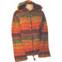 Foltvarrott kapucnis  kabát