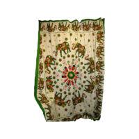 Elefánt mandala_zöld textilkép